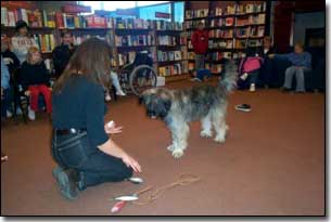 Briard-Artemis and Barbara giving a demonstration in Chapters