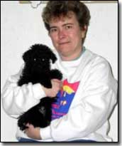 Miniature poodle-Jetta with her mom