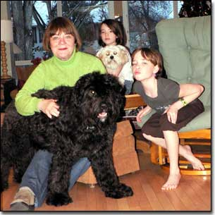 Slideshow of family photos with dogs