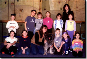 Day Camp kids with Barbara and Artemis